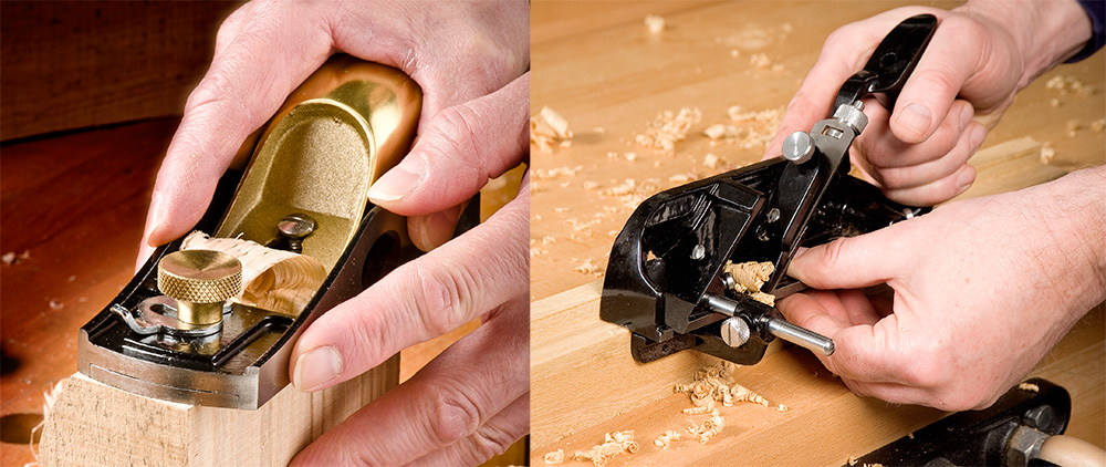 L to R: Axminster Rider No.69½ Low Angle Block Plane and No.778 Rebate Plane