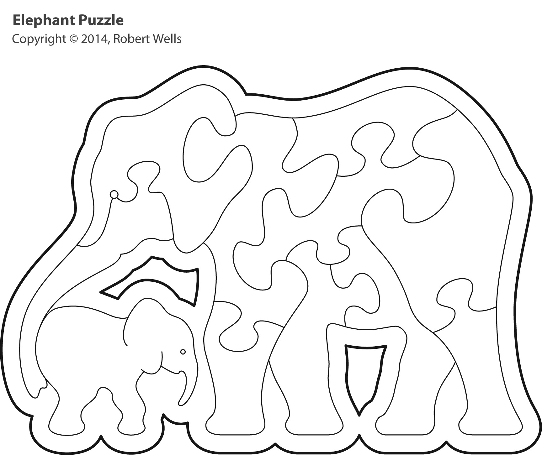 elephant-outline
