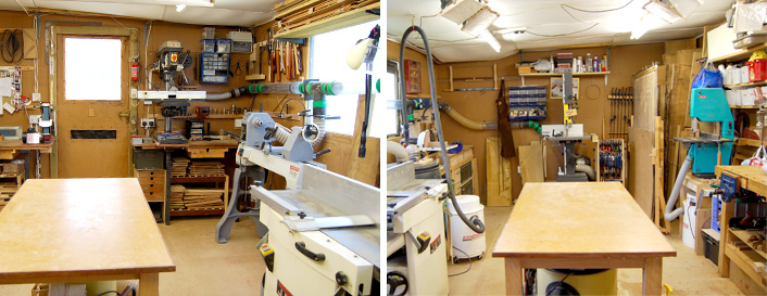 North and south aspects of Rob's workshop
