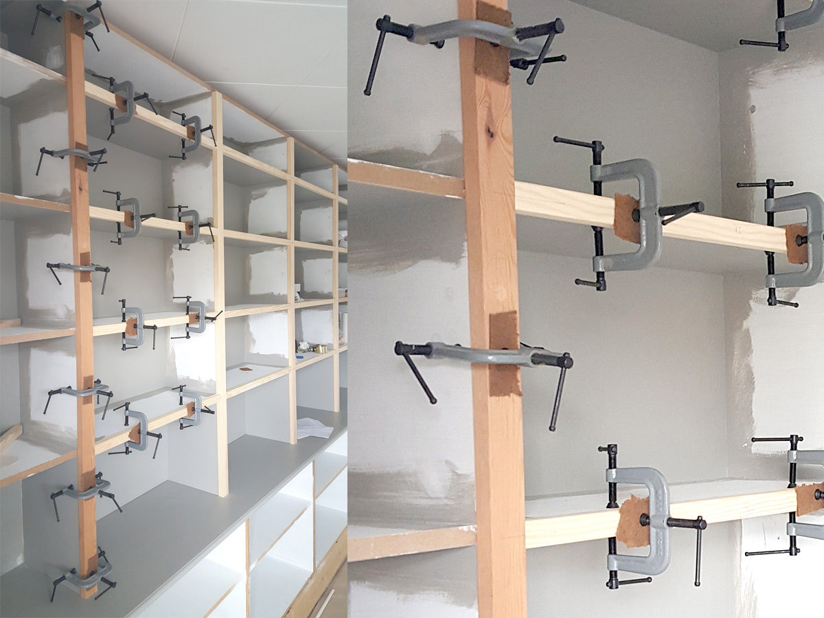 Jim Petersson won four G Clamps and a storage rack worth over £55 by sharing his collection of Edging G Clamps in action on a storage unit (July 2015)