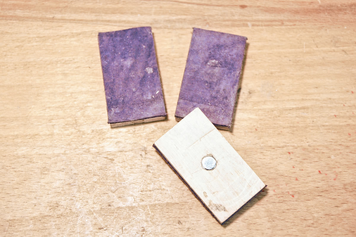 Pad reversed to show rare earth magnet