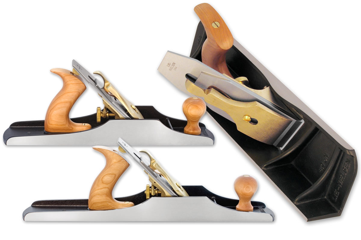 Lie-Nielsen No. 5 Jack Plane, No. 6 Fore Plane and No. 51 Shooting Board Plane