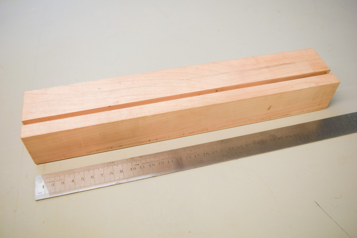 Illustrates the length of the block of wood
