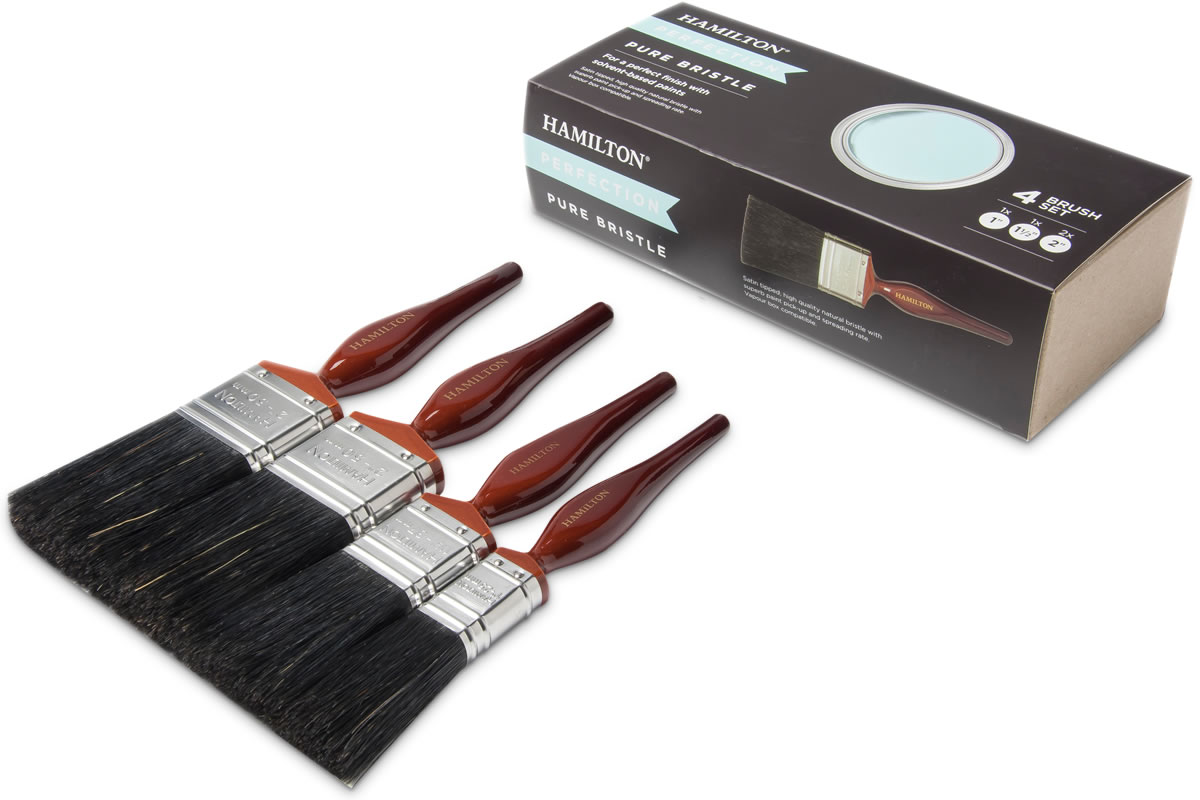 Hamilton Perfection Pure Bristle Paint Brush Set