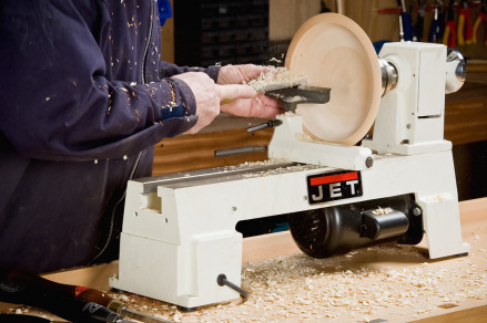 On smaller lathes, the diameter of the bowl is governed by the height of the headstock centre over the bed.