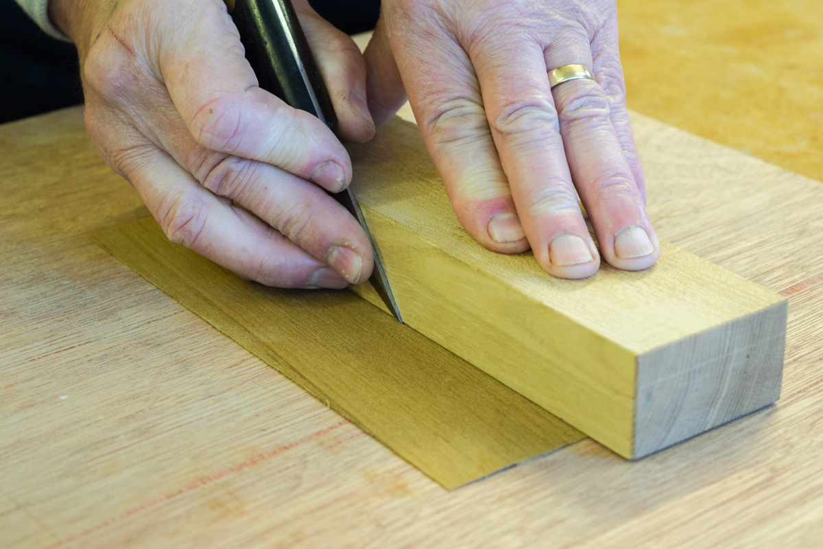 Cutting with a single bevel knife