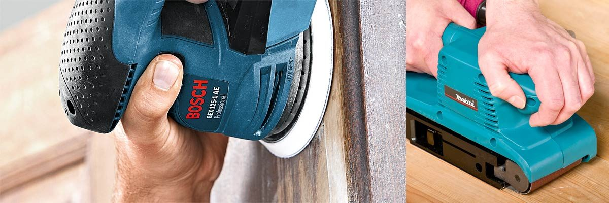 Sanding with Bosch and Makita