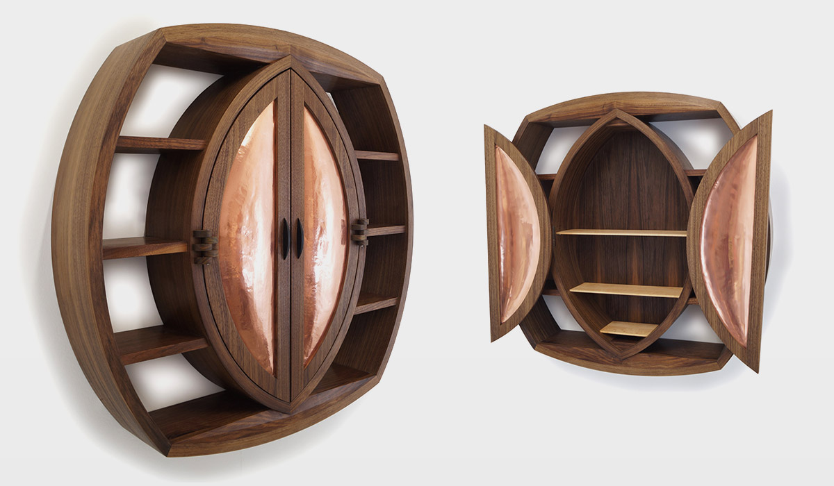 Ellipse shaped cabinet