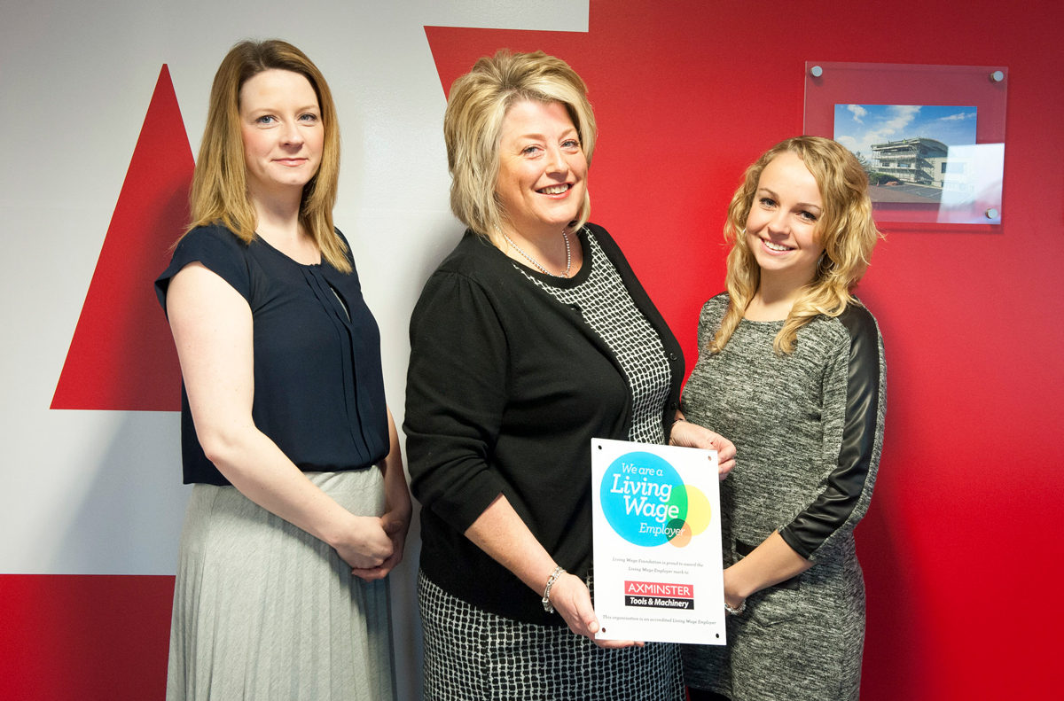 Axminster's HR team. L to R: Fran Cook (HR Manager), Jane Boulton (HR Director) and Sammy Barry (HR Administrator.