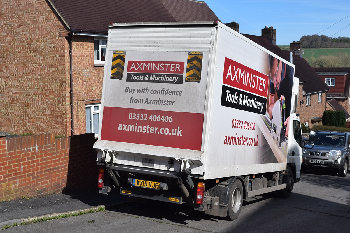 3. Bandsaw in the rear of the lorry
