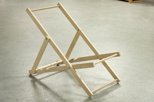 Complete dry fit of deckchair frame