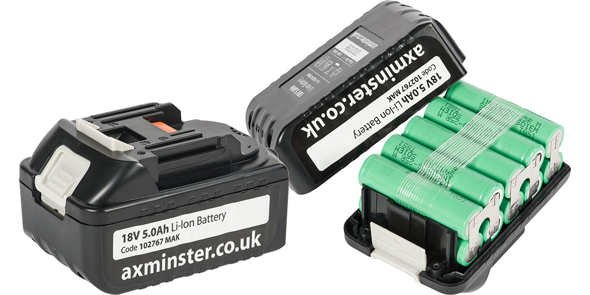 Axminster's battery for Makita cordless uses market leading Samsung SDI cells