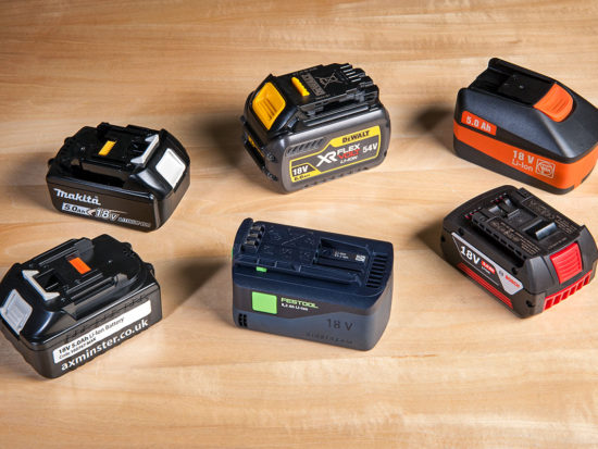 Range of 18V batteries