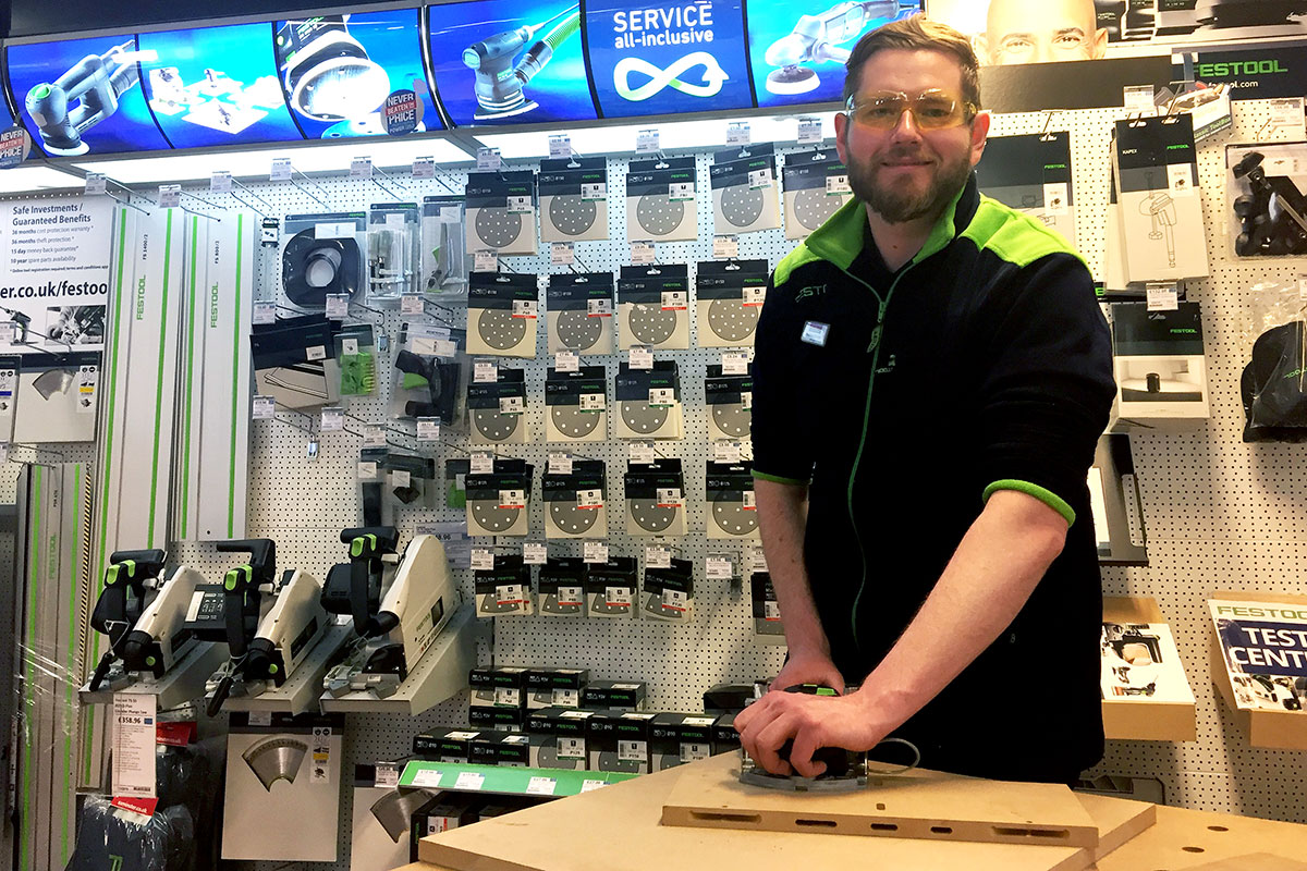 Matthew Youngs with the Festool DOMINO jointing system