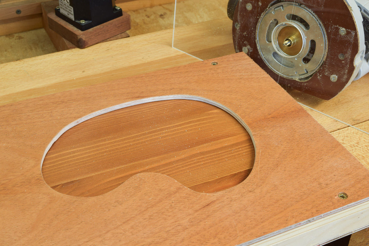 Set-up for second cut with the router