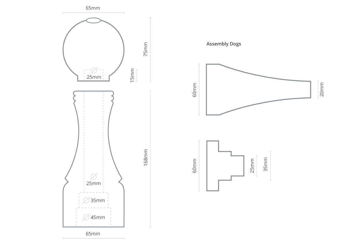 Pepper Mill Dimensions