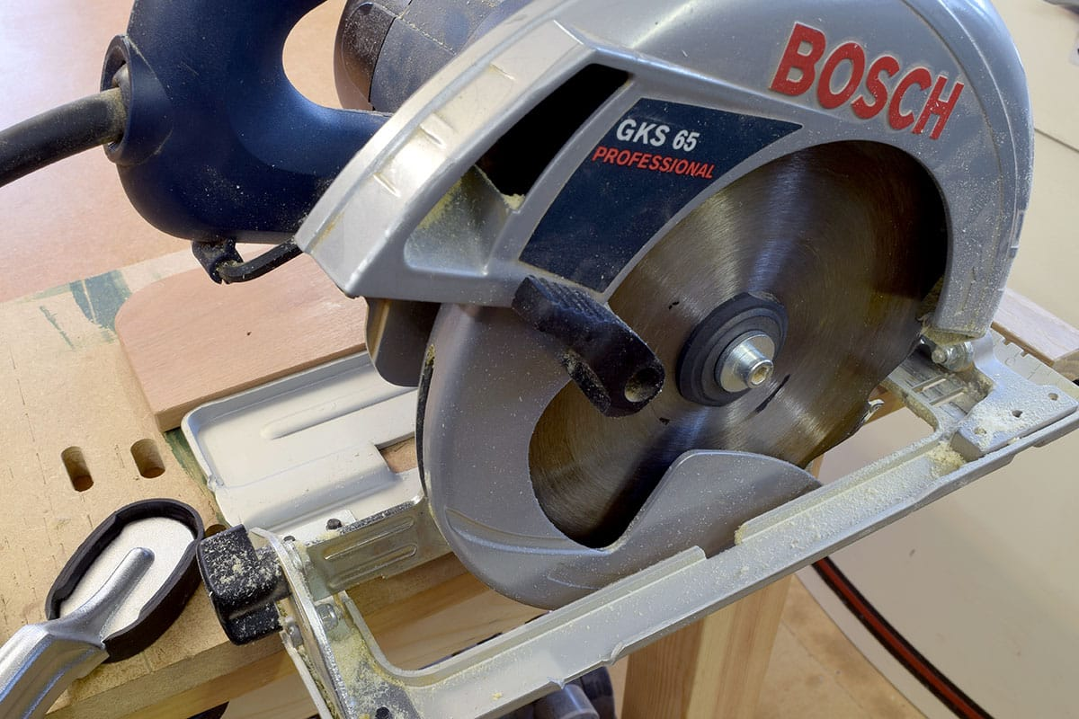 Set the depth of cut on the circular saw