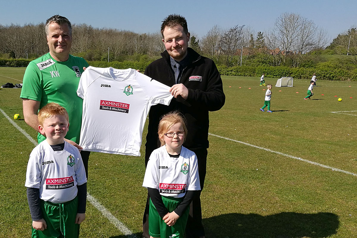 Axminster sponsors the Little Spartans
