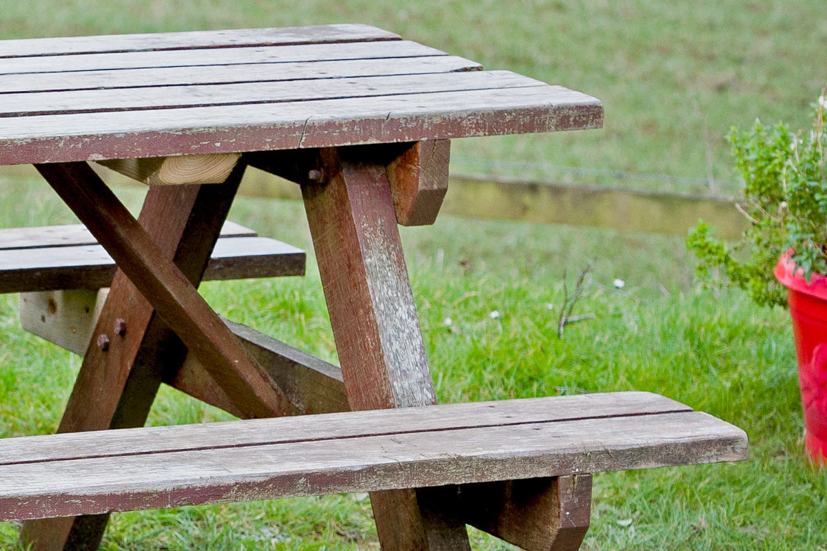 Weathered furniture