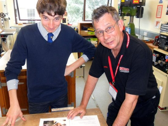 David Foden with Year 12 student Jason Wells