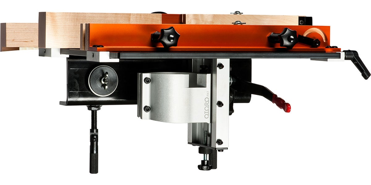 Double your routers versatility with a new palm router table the router table side view keyboard keysfo Choice Image
