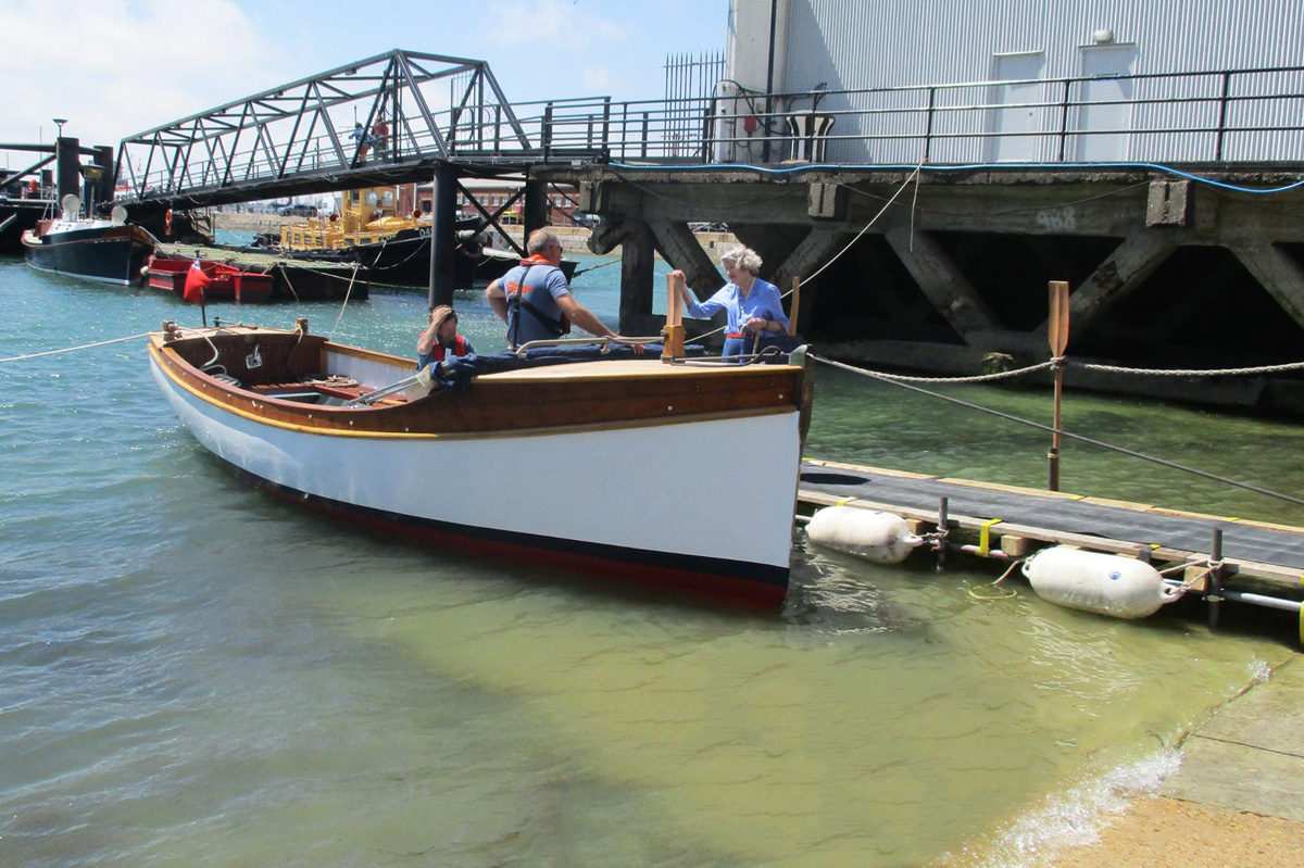 Restored Isabell II being launched
