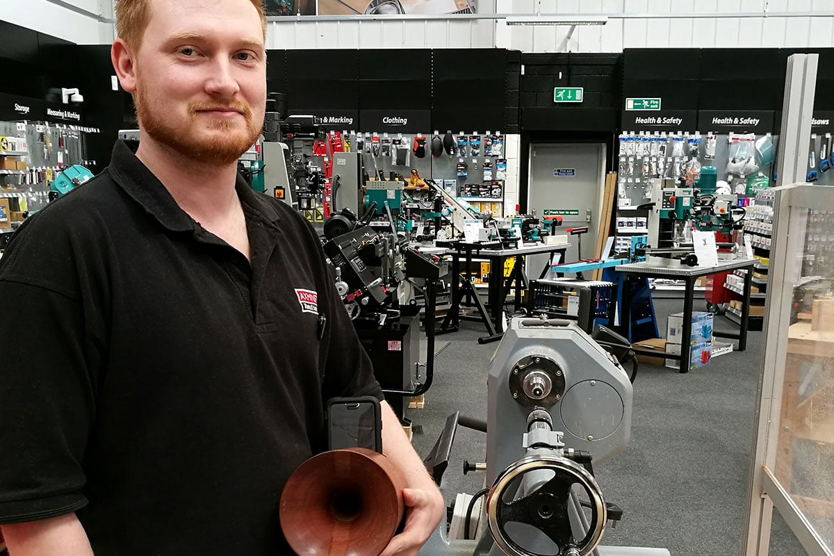 Nathan Blythe made a mobile phone speaker on a lathe