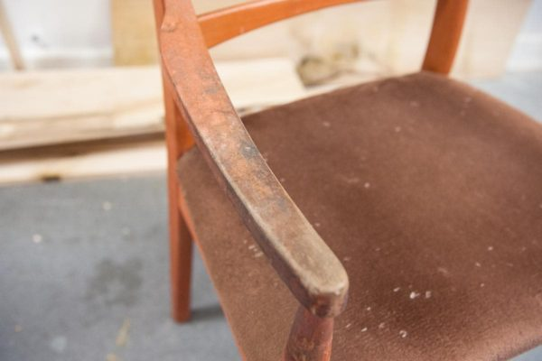 Chair cushion before being removed