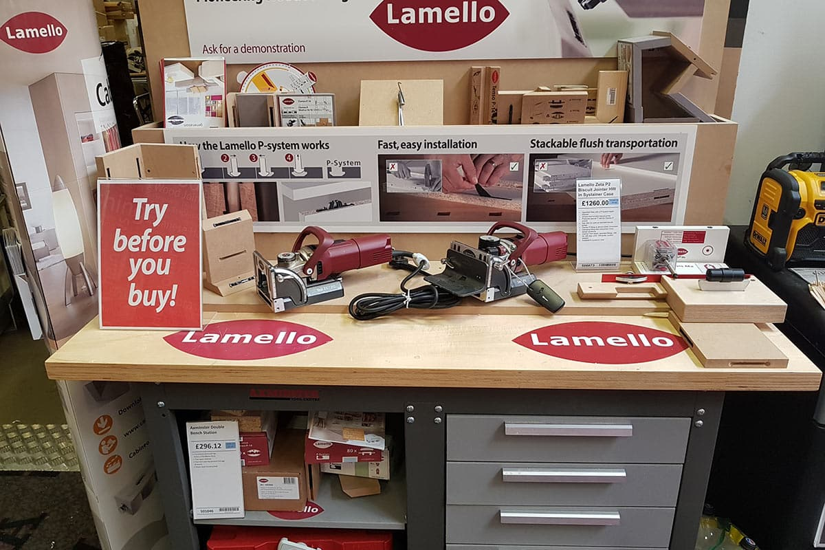 Lamello Demonstration Station - Axminster Warrington Store