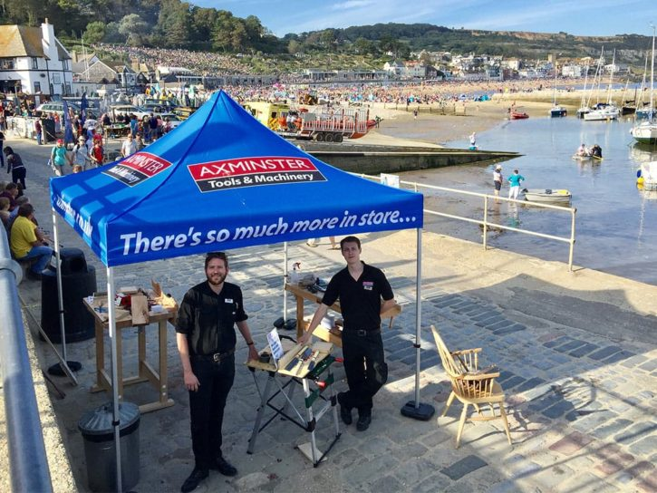 Axminster Store Team At The Cobb, Lyme Regis
