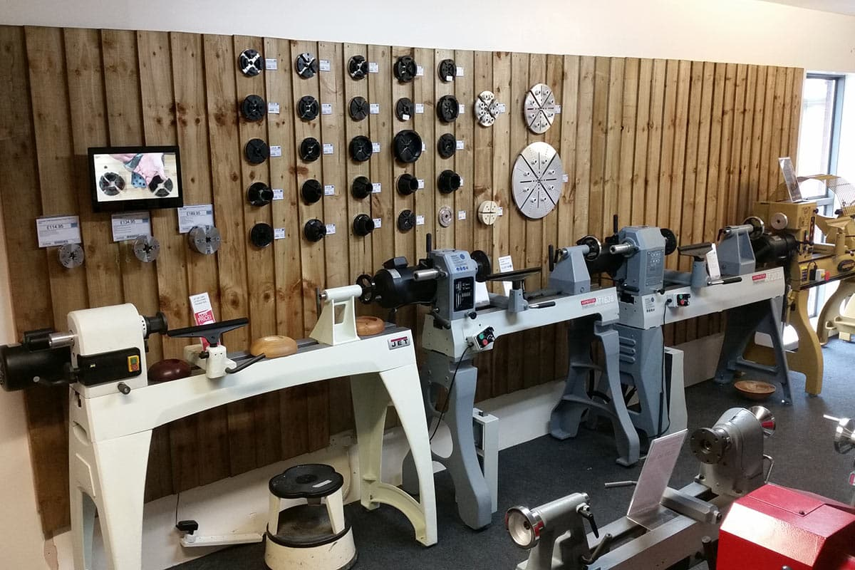 Axminster Store Woodturning Display