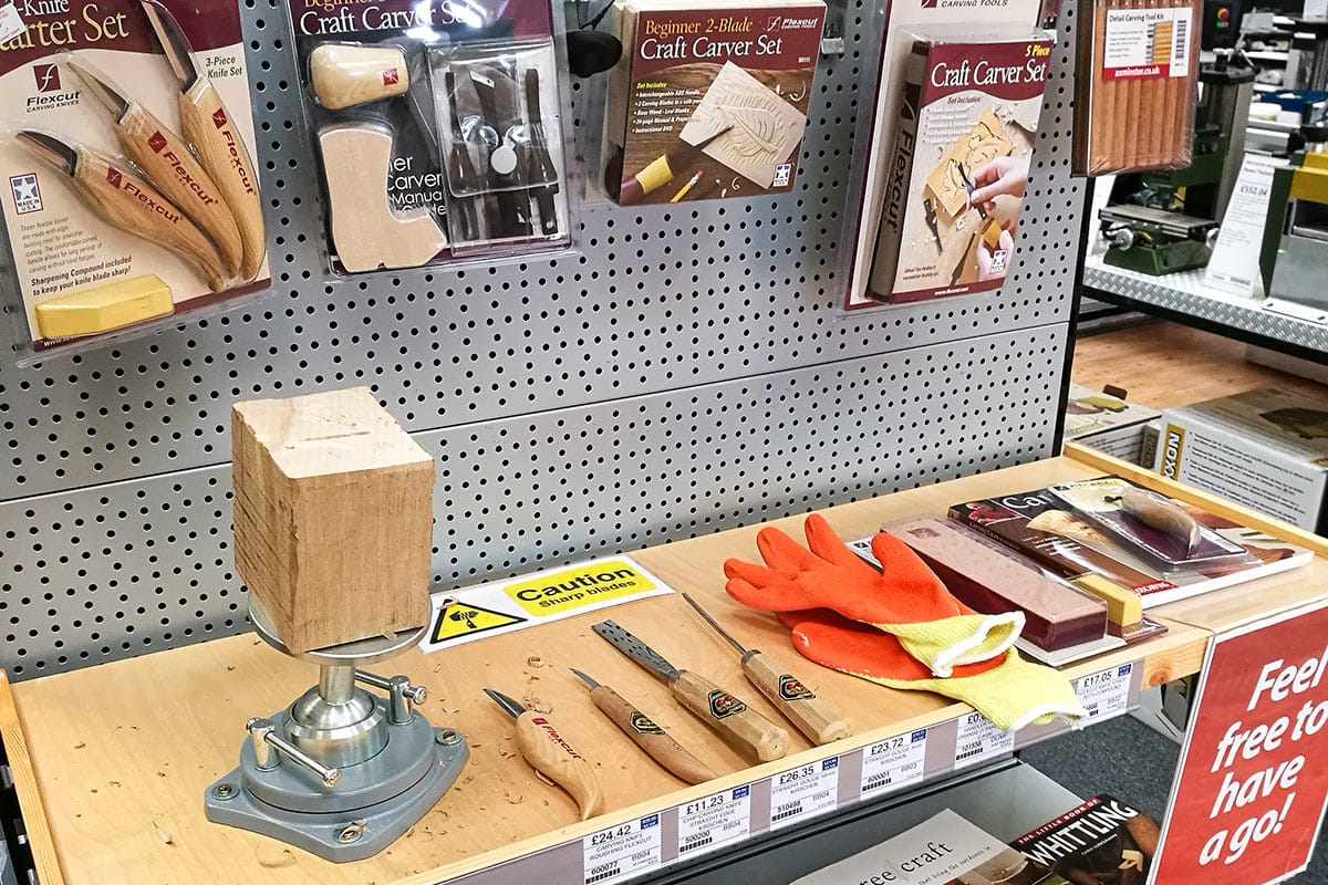 Woodcarving station