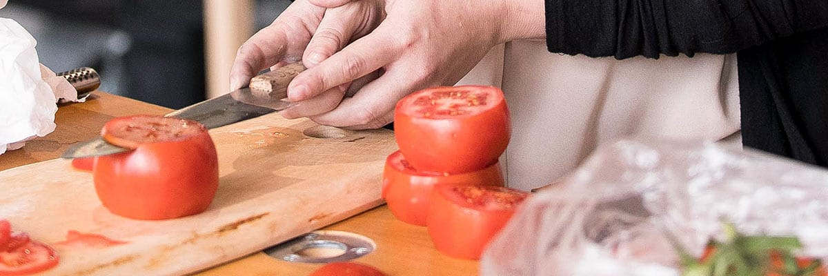 The test of a truly sharp blade - slicing tomatoes at Tormek