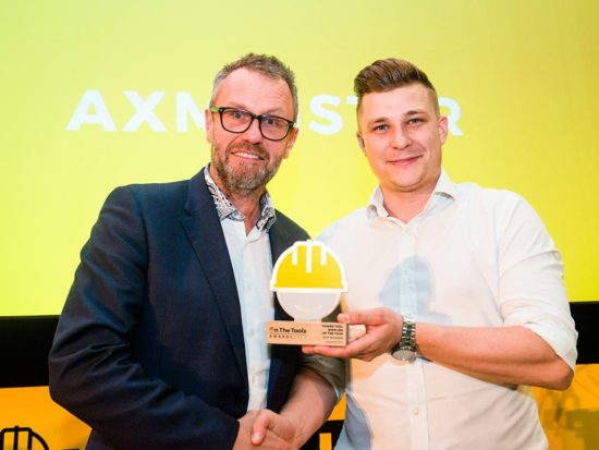 Left to right: Martin Brown, Axminster Tools & Machinery and Adam Barrie, creative director of On the Tools (photo: Don't Panic Projects and Edward Shaw Photography)
