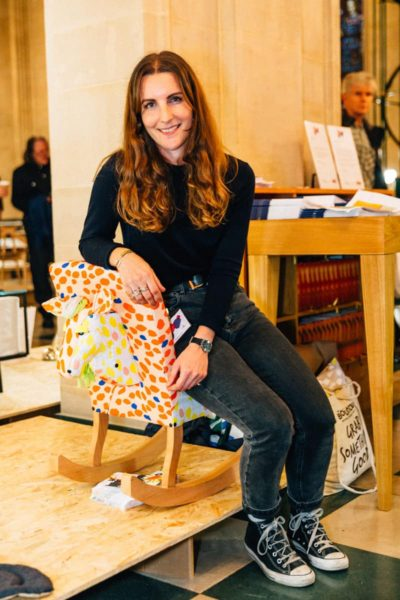 Charlotte Lloyd and her Giddy Up Chair