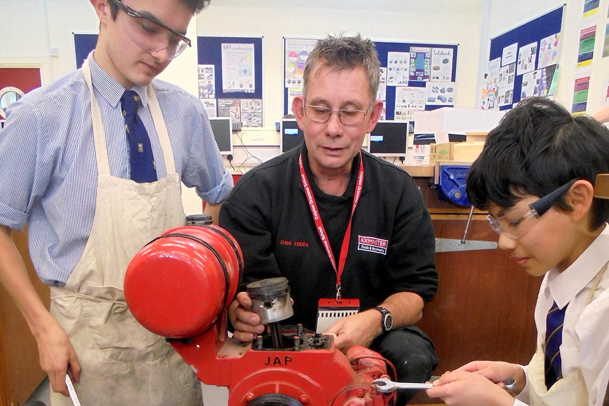 David Foden with engineering club