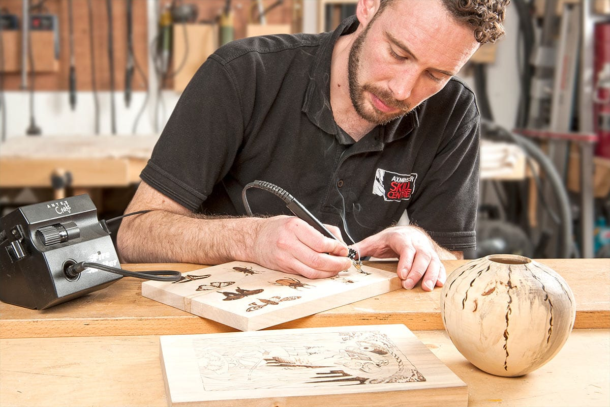Pyrography in store