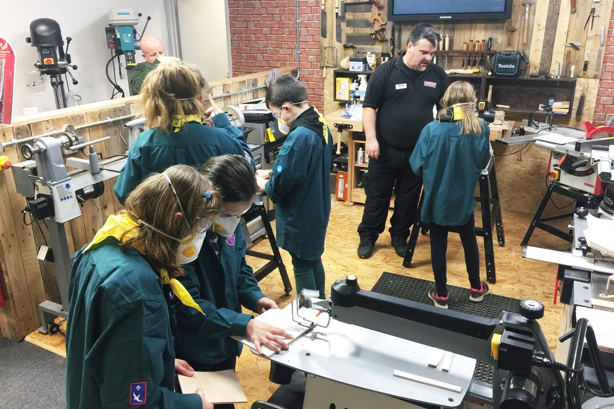 Sales Advisor Shaun Vincent ran the Scroll Sawing workshop