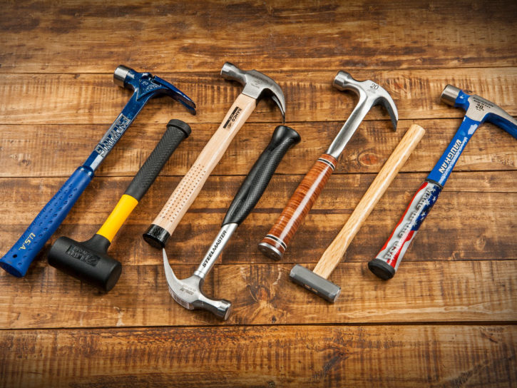 A selection of hammers