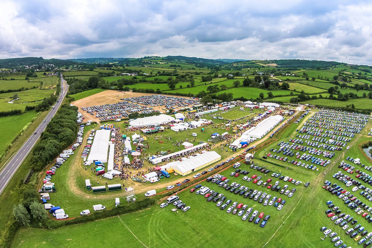Axe Vale Show from above