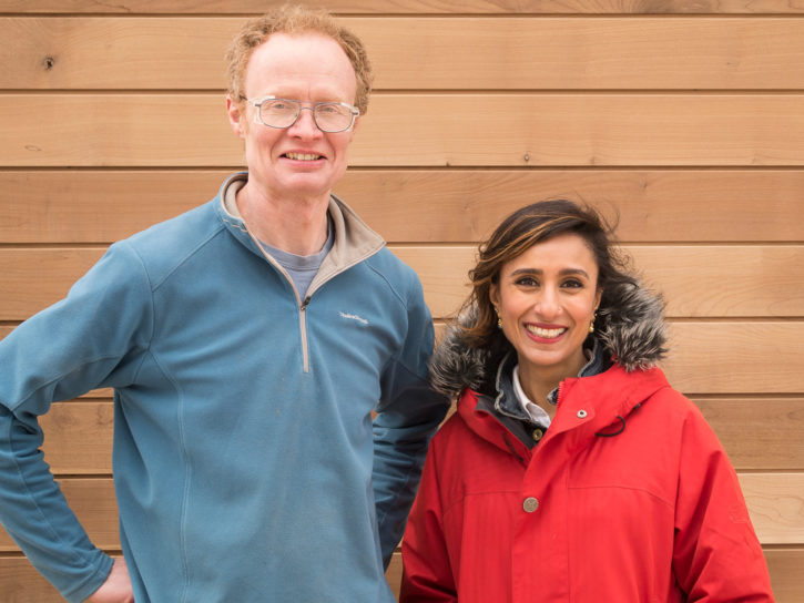 Sylva's Rodas Irving with BBC Countryfile presenter Anita Rani