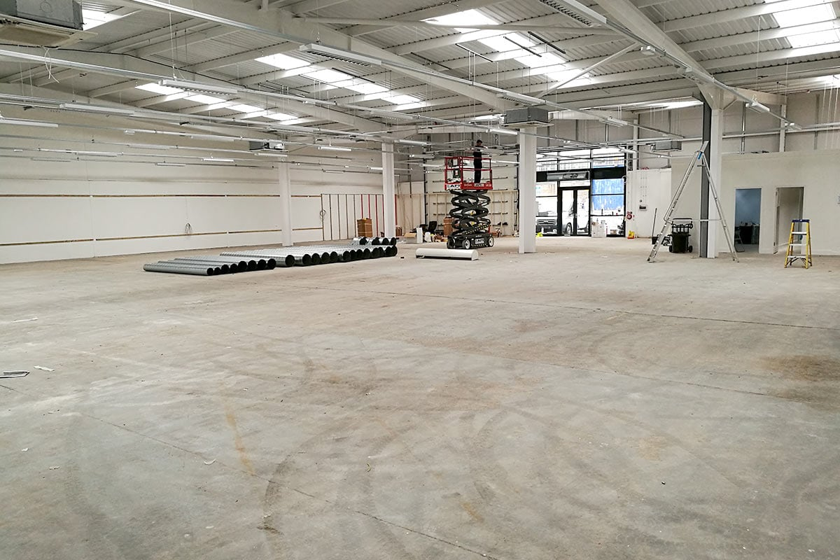 Images show the start of work at the new North Shields store