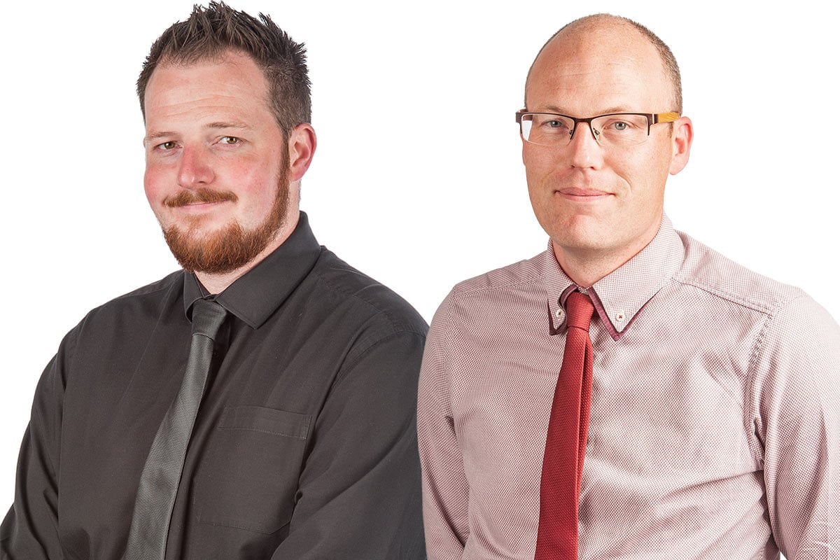 Store Manager Mark Bloomfield & Retail Manager Berni Callery