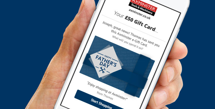 Axminster Gift Card for Father's Day