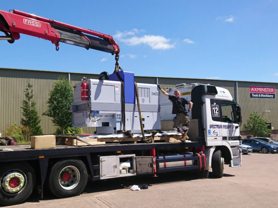 Star Micronics' delivery and commissioning team arriving