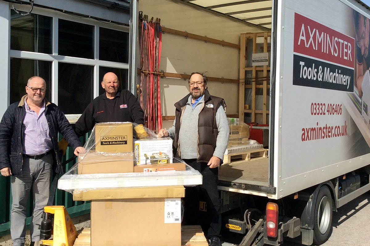 Axminster delivering tools and machines