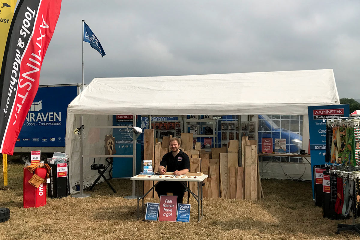 Team member Dan at the Bridgend Show demonstrating a range of our products