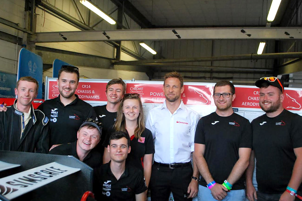 Cardiff Racing team with former F1 champion Jenson Button