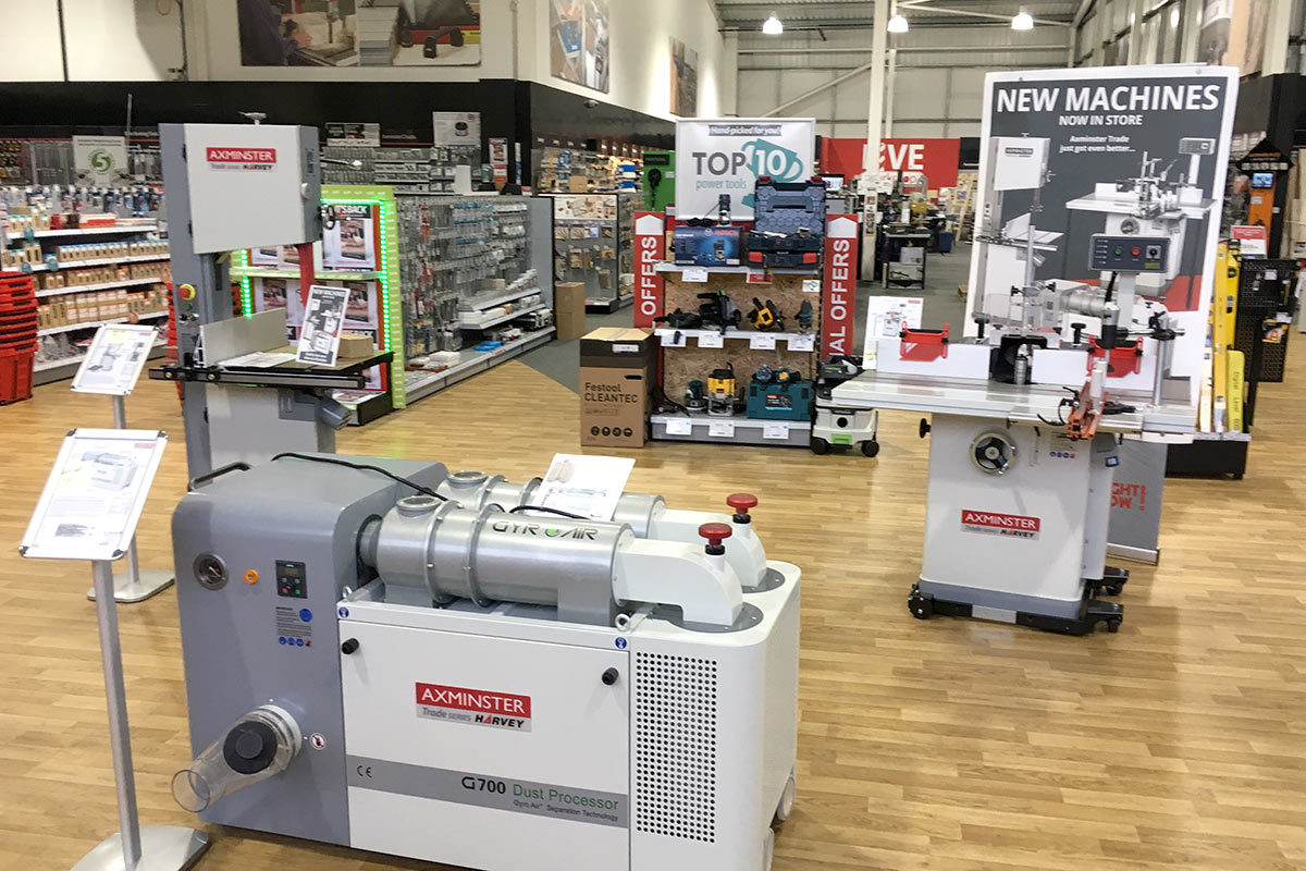 New Axminster Trade - ask for a demonstration and find out how these machines will benefit your business