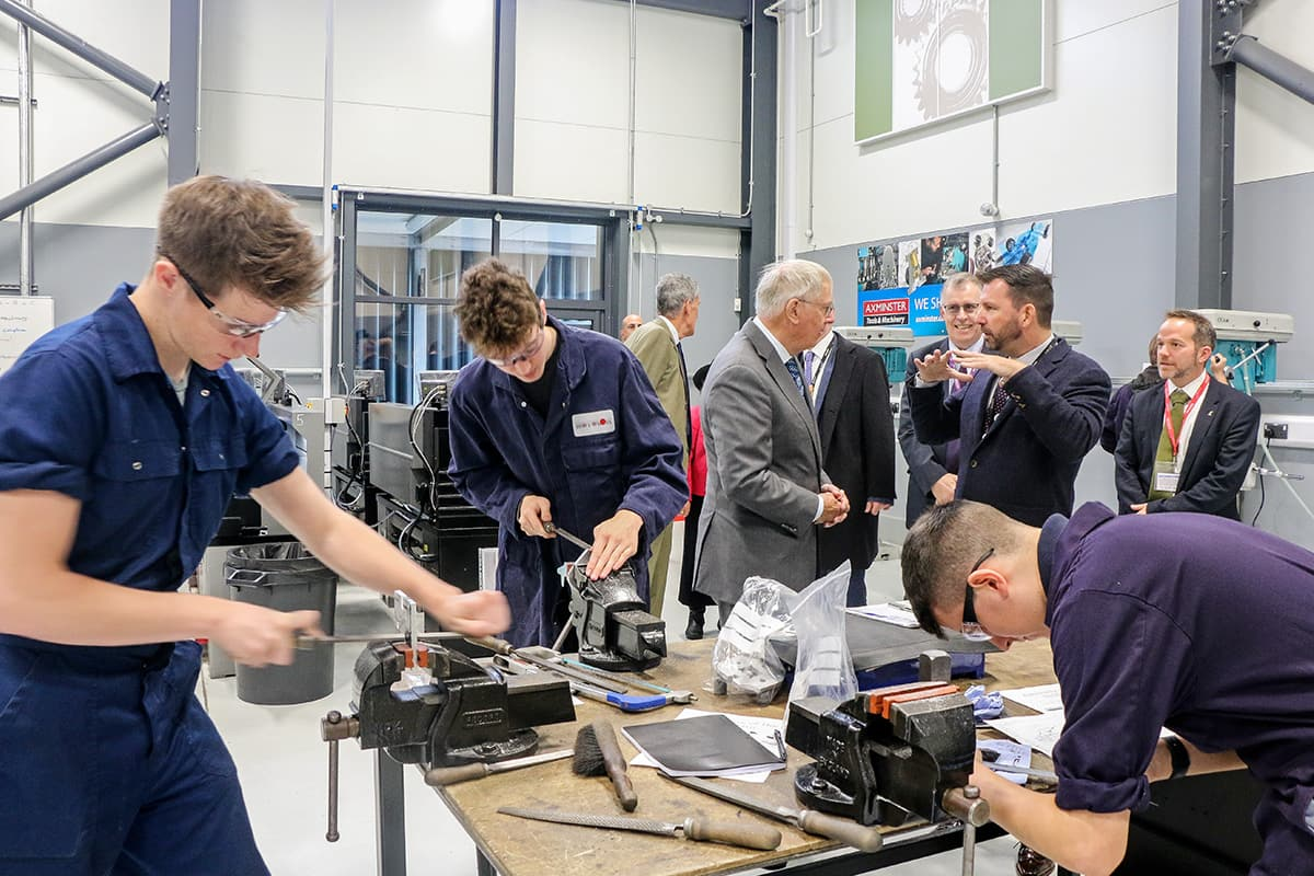 Royal Duke Visits Exeter College's New Advanced Engineering Centre